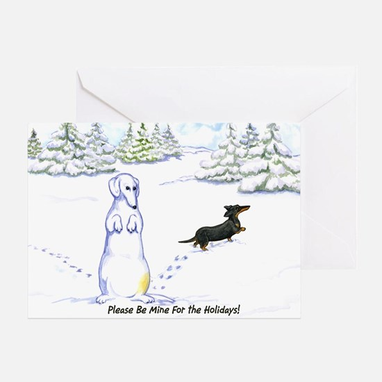 Be Mine Wiener Dog Holiday Card