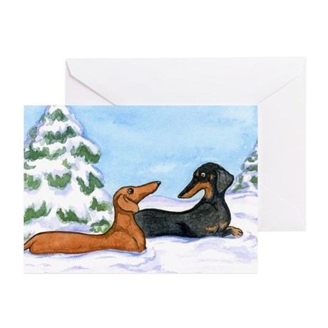 Doxies in Snow Christmas Cards (10)