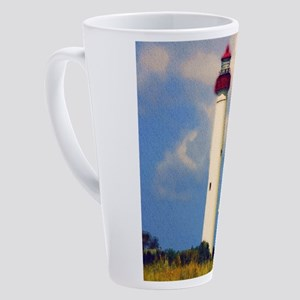 Cape May Light Watercolor 17 oz Latte Mug