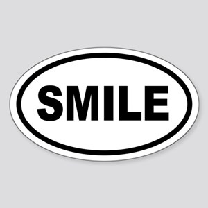 Basic SMILE Oval Oval Sticker