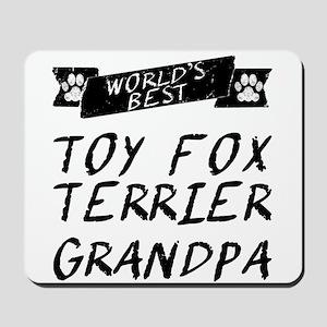 Worlds Best Toy Fox Terrier Grandpa Mousepad