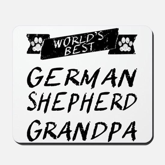 Worlds Best German Shepherd Grandpa Mousepad