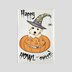 Halloween Bichon Rectangle Magnet