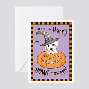 Halloween Bichon Greeting Card