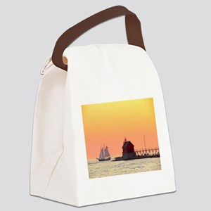 Grand Haven Sunset Canvas Lunch Bag