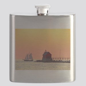 Grand Haven Sunset Flask