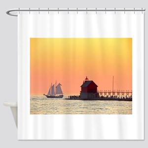 Grand Haven Sunset Shower Curtain