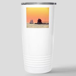 Grand Haven Sunset Stainless Steel Travel Mug