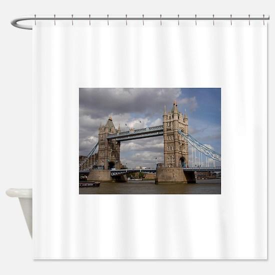 london england Shower Curtain