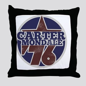 Carter Mondale 1976  Throw Pillow