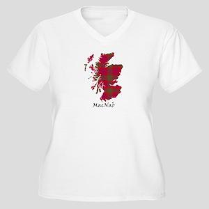 Map-MacNab Women's Plus Size V-Neck T-Shirt