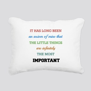 Sherlock Holmes Quote on Rectangular Canvas Pillow