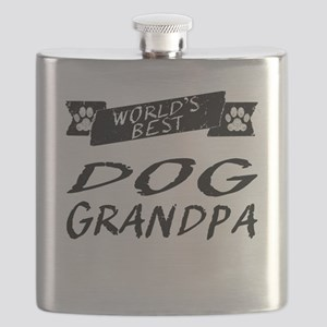 Worlds Best Dog Grandpa Flask