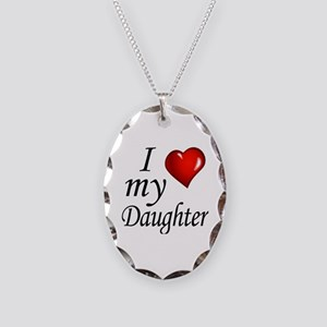 I love my Daughter Necklace Oval Charm