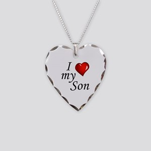 I love my son Necklace Heart Charm