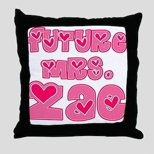 Future Mrs. Zac Throw Pillow
