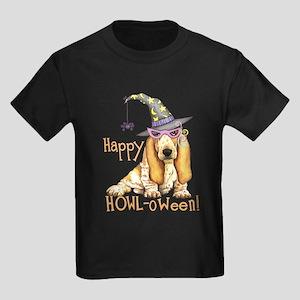 Halloween Basset Kids Dark T-Shirt