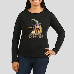 Halloween Basset Women's Long Sleeve Dark T-Shirt