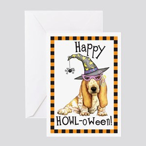 Halloween Basset Greeting Card