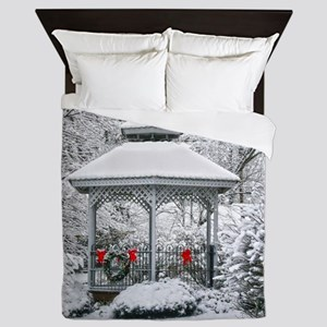 Gazebo in the Snow Queen Duvet