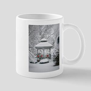 Gazebo in the Snow Mugs