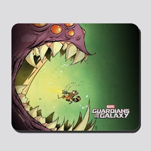 GOTG Comic Rocket Big Mouth Monster Mousepad