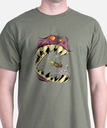 GOTG Comic Rocket Big Mouth Monster T-Shirt