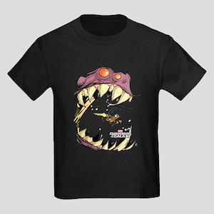 GOTG Comic Rocket Big Mouth Mons Kids Dark T-Shirt