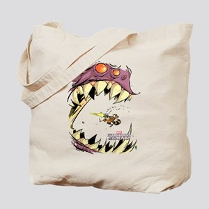 GOTG Comic Rocket Big Mouth Monster Tote Bag