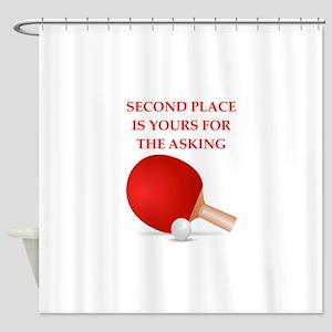 table tennis Shower Curtain