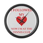 tennis Large Wall Clock