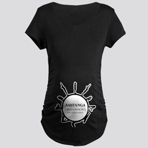 Yoga Sun Salutation Maternity Dark T-Shirt
