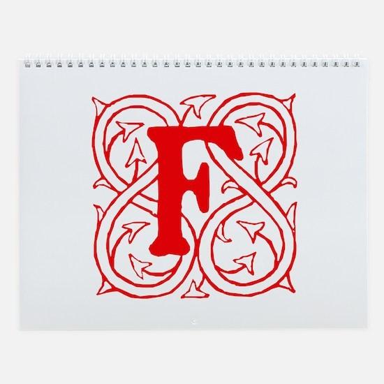 Initial F Wall Calendar