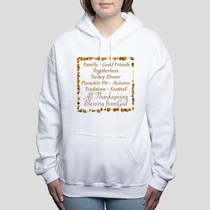 THANKSGIVING BLESS FROM  Women's Hooded Sweatshirt