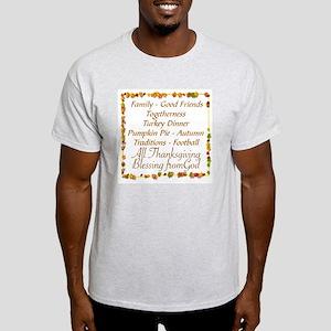 THANKSGIVING BLESS FROM GOD Light T-Shirt