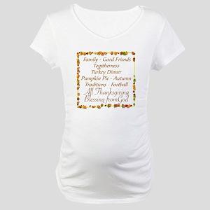 THANKSGIVING BLESS FROM GOD Maternity T-Shirt