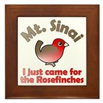 I Just Came for the Rosefinches Framed Tile
