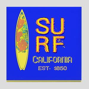 SURF CALIFORNIA EST 1850 Tile Coaster