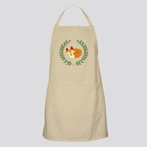 Sleeping Fox with Laurel Wreath Apron