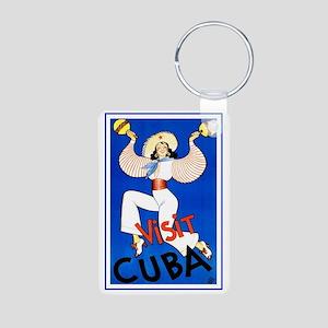 Vintage Travel Poster, Cub Aluminum Photo Keychain