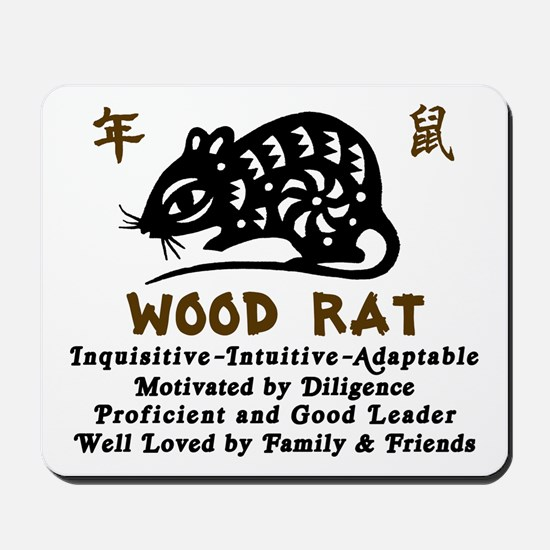 Chinese Zodiac Wood Rat Mousepad