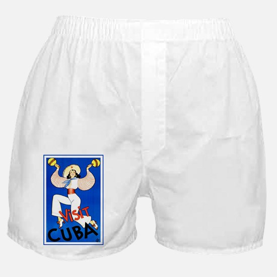 Vintage Travel Poster, Cuba Boxer Shorts