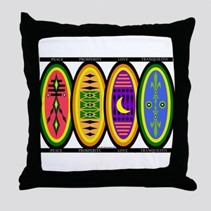 Happiness Shields Throw Pillow
