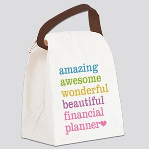Amazing Financial Planner Canvas Lunch Bag
