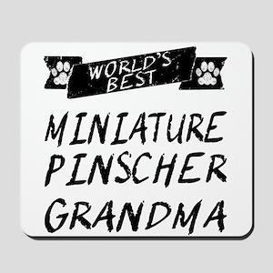 Worlds Best Miniature Pinscher Grandma Mousepad