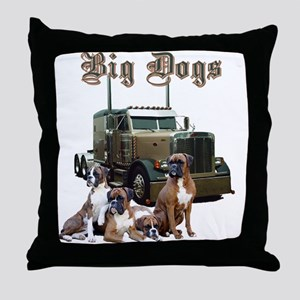 Big Dogs Throw Pillow