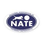 NATE logo Oval Car Magnet