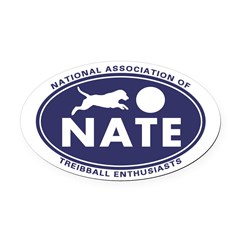 NATE logo Oval Car Magnet