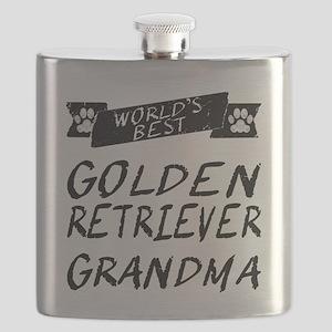 Worlds Best Golden Retriever Grandma Flask