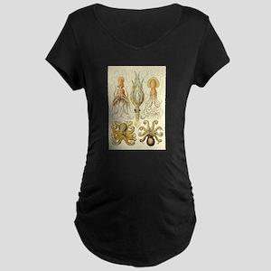 Vintage Octopus, Octopi Maternity T-Shirt
